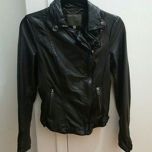 MUUBAA Black Leather Jacket